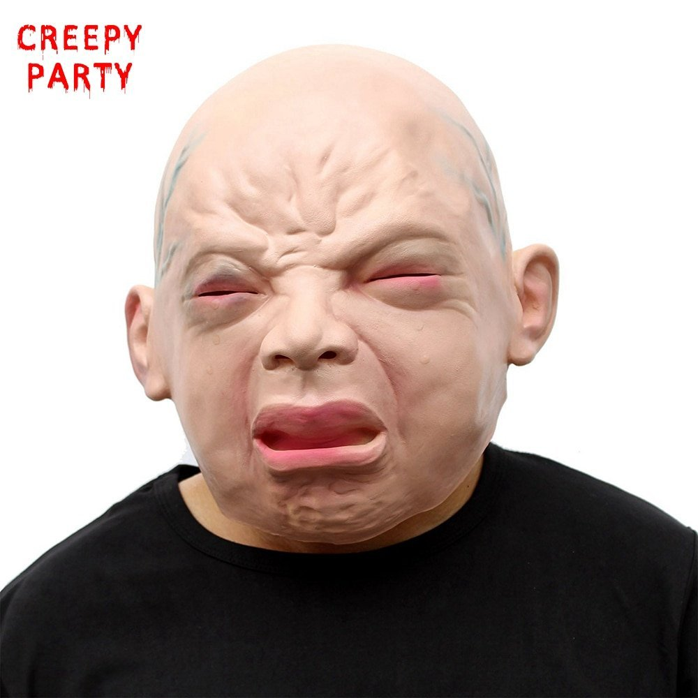 Realistic Scary Halloween Masks.Crying Baby Mask Realistic Scary Halloween And 45 Similar Items