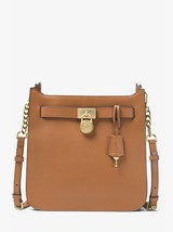 Michael Kors Hamilton Acorn Medium Leather/Polyester Lining Top-Zip Mess... - $419.99