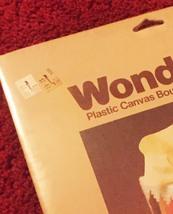Vintage 70s WonderArt Plastic Canvas Tissue Cover Kit #6000 - by Needlecraft image 4