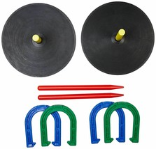 Rubber Horseshoe Game Set Horse Shoe Stakes Indoor Outdoor Recreational New - $31.50