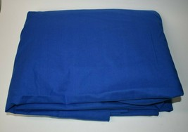 Vintage Martex Queen Flat Sheet Solid Blue Cotton 90x102 USA - $14.85