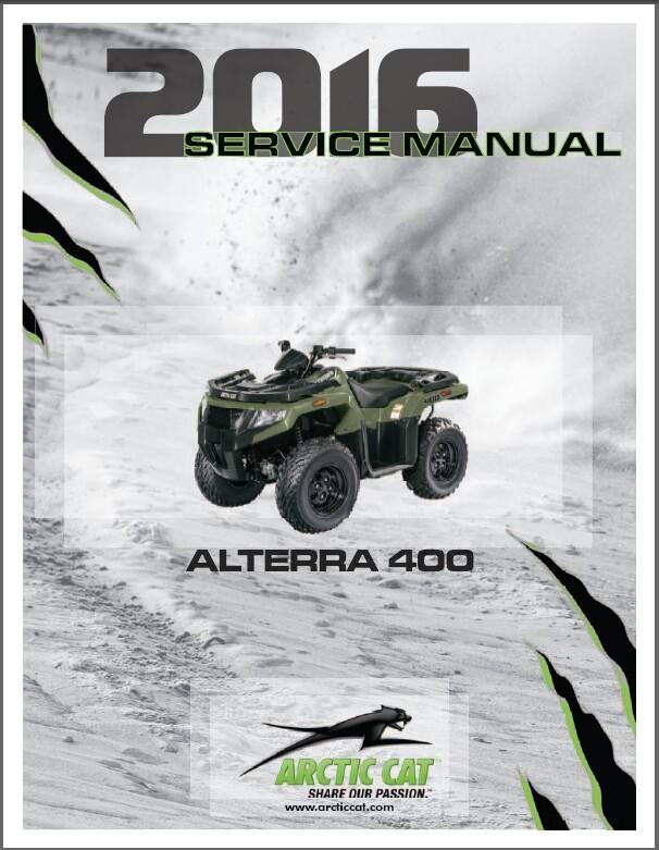 2016 Arctic Cat Alterra 400 ATV Service Manual CD
