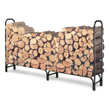 Outdoor 8ft Firewood Rack Wood Log Storage Stur... - $100.61