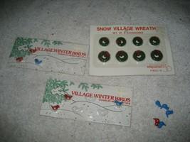 Dept 56 Snow Village Enameled Winter Birds Wreath Christmas Holiday - $19.79