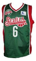Kristaps Porzingis #6 Sevilla Baloncesto Basketball Jersey New Green Any Size image 1