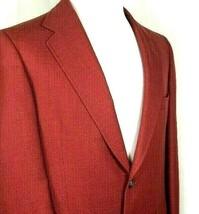 Austin Reed Blazer Size 40 Regular Burgundy or Maroon Two Button Wool Blend - $59.35