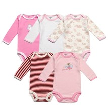 5 Packs Baby Bodysuits Original Infant Jumpsuits Autumn Overalls Cotton ... - $20.00