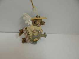 Collectible Kurt S. Adler Gardening Girl Angel Christmas Ornament - $11.83