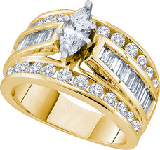 14k Yellow Gold Marquise Diamond Solitaire Bridal Wedding Engagement Rin... - $5,399.00