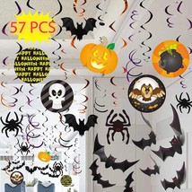 Halloween Party Swirl Ceiling Hanging and Wall Decoration Banner Garland... - ₨1,292.92 INR