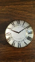Clock Face Paperweight Made in Kansas USA Half Dome Roman Numerals Black... - $16.90