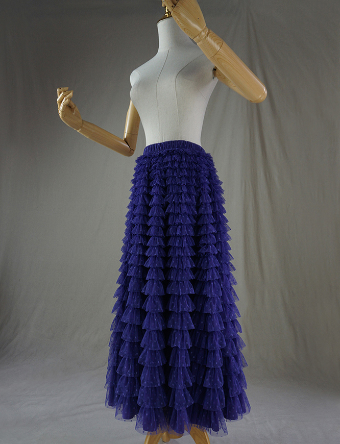 Tulle skirt purple dot 2
