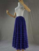 Purple Tiered Tulle Skirt Polka Dot Layered Long Tulle Skirt US0-US24 image 7