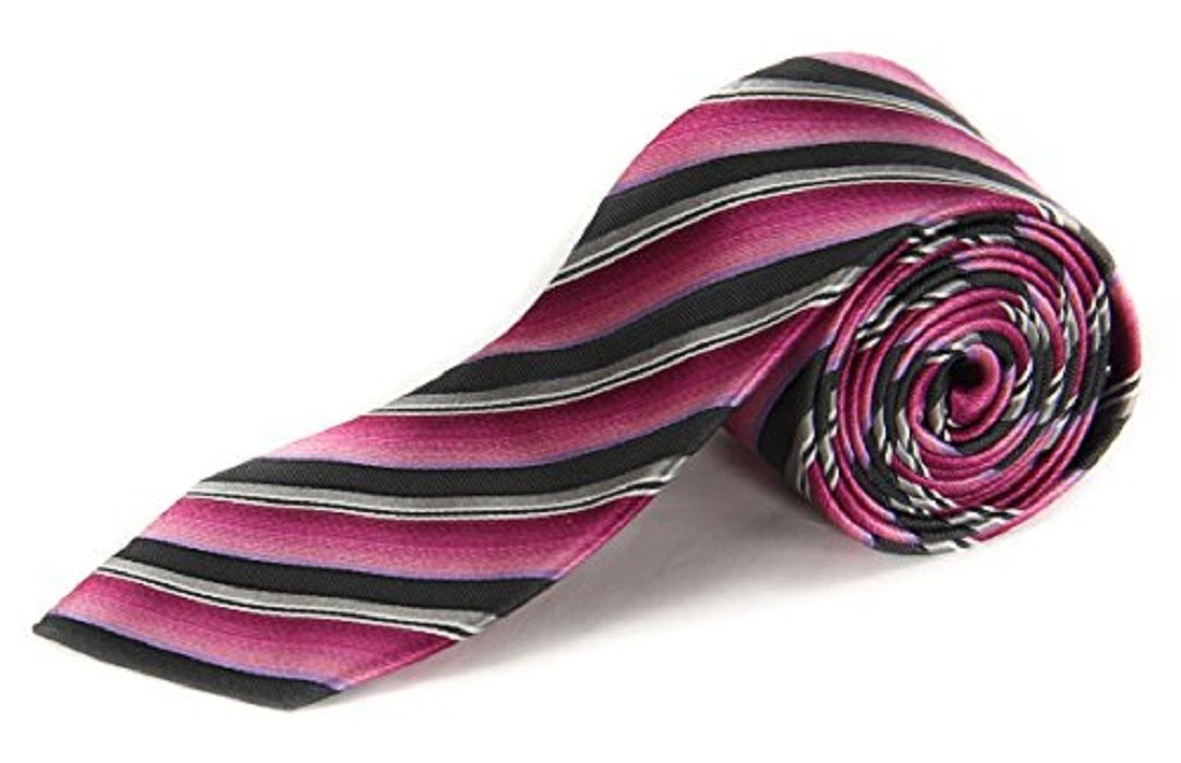 Alfani Spectrum AF20100130 Men's Electric Stripe Neck Tie Pink / Multi image 1