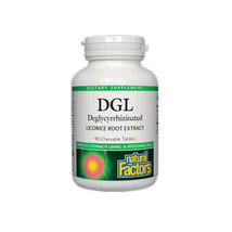 Natural Factors Deglycyrrhizinated Licorice Root, 90 Chewable Tablets - $11.75