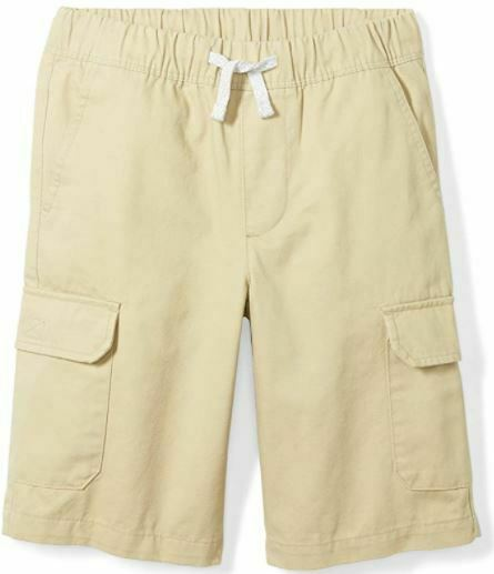 Brand - Spotted Zebra Boys' Big Kid Cargo Shorts, Light Khaki, Size XS