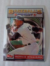 Bernie Williams 1993 Topps Finest Baseball Card #30 NY Yankees NM/M Cond... - $1.79