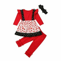 2018 Pretty Kids Baby Girls Autumn Outfits Ladybug Girk Fly Sleeve Dots ... - $13.45+