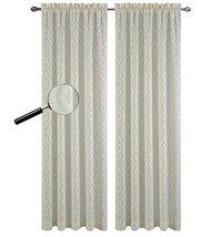 Urbanest 54-inch by 84-inch Portland Set of 2 Sheer Curtain Drapery Panels, Beig - $28.70