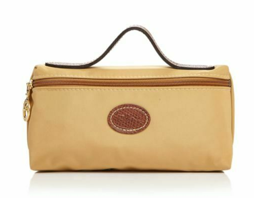 Longchamp Le Pliage Cosmetic Case bag Nylon pouch ~Honey~ NIP