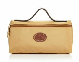 Longchamp Le Pliage Cosmetic Case bag Nylon pouch ~Honey~ NIP - $53.46