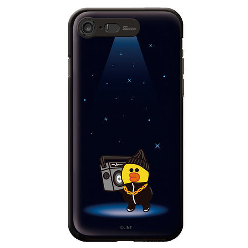LINE Friends Premium Beat BROWN Lighting Case iPhone 7/7 Plus Mobile Skin Cover