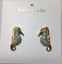 Nwt Kate Spade 12K Gold Plated Paradise Found Seahorse Stud Earrings #WBRUC439 - $30.00