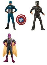 Marvel Black Panther Vision Captain America Shield Metallic Muscle Costume-12/14 - $14.85+
