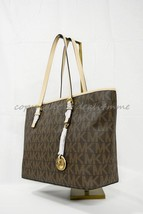 NWT Michael Kors Jet Set Signature Travel Top-Zip Tote in Brown - $179.00