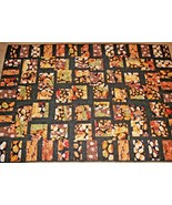 Handmade Junk Comfort Food Quilt Blanket Black Polka Dot Cookie Pancake ... - $137.61