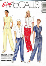 McCalls 8175 Misses Top & Pull-On Pants 20-22-24 U/C Easy Sewing Pattern... - $12.71
