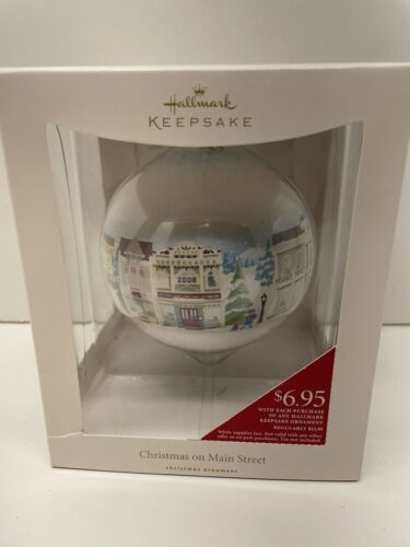 Primary image for Hallmark 2008 Christmas On Main Street Nostalgic Houses Ball Christmas Ornament