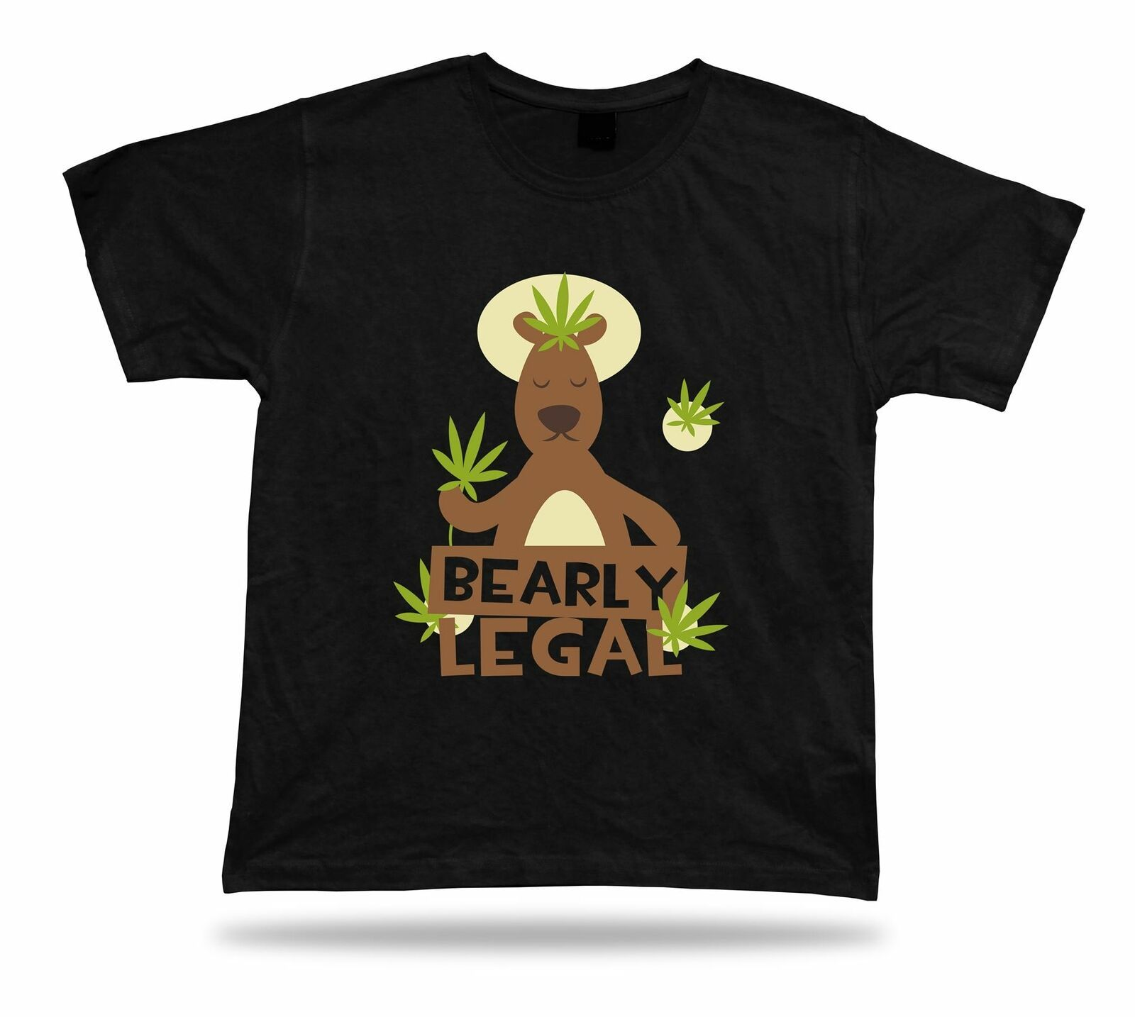 Primary image for Bearly legal Bear with Weed Leaf t shirt tee cool design special gift apparel