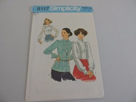 Simplicity Uncut Sewing Pattern 8117 Womens 1970s Vintage Blouse Shirt S... - $11.52
