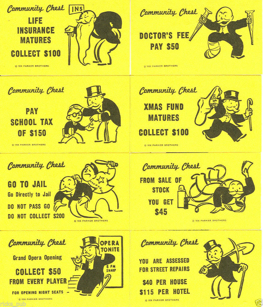 FULL SET of Monopoly CARDS ○ Deeds, Chance & and 21 similar items With Chance Card Template