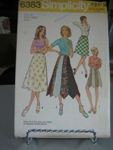 Simplicity 6383 Misses Skirts in 2 Lengths Pattern - Size 12 Waist 26 1/2 - $9.89