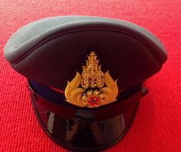 Royal Thai Army Officer Cap Green Colonel Uniform Captain Soldier Thai Military - $60.43