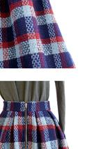 RED PLAID Women Midi Skirt Autumn Classic Plus Size Flannel Long Plaid Skirts image 11