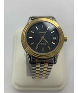 TISSOT Mens Watch Stainless Steel Date  Gold Black Dial PR50 - $114.40