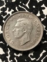 1945 New Zealand 1 Shilling Lot#X3487 Silver! Nice! - $18.70