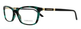 Versace 3186 5076 Eyeglasses Frame Green Havana Gold Tortoise Glasses 54... - $40.92