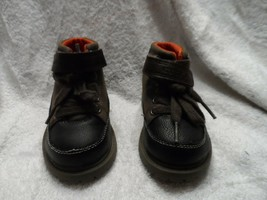 carters Brown & Black toddler hiking style boots Size 6 - $9.50