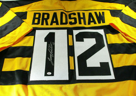 """TERRY BRADSHAW / NFL HALL OF FAME / AUTOGRAPHED """"BUMBLE-BEE"""" CUSTOM JERSEY / COA - £113.42 GBP"""