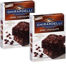 Ghirardelli Dark Chocolate Brownie Mix, 20-ounce Boxes (Pack of 2) - $16.82