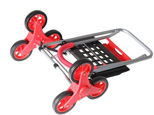 Stair Climber Mighty Max Dolly Cart, Red Handtruck Hardware Garden Utility Cart