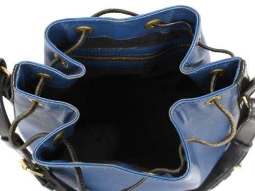 LOUIS VUITTON Petit Noe Epi Blue Noir Shoulder Bag M44152  Authentic 5404636