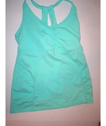 New NWT Womens Athleta Top XL Tank Yoga Gym Pilates Bra Light Green Race... - $51.60