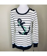 Tommy Hilfiger Striped Anchor Sweater Sz Small Petite NWT - $34.99
