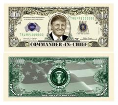 25 Donald Trump President Money Fake Dollar Bills Commander In Chief Mil... - $9.74