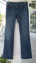 Rare BEBE Jeans~Size 27~CRYSTAL DETAILED~Drop Dead Gorgeous~Very Gently ... - $39.99